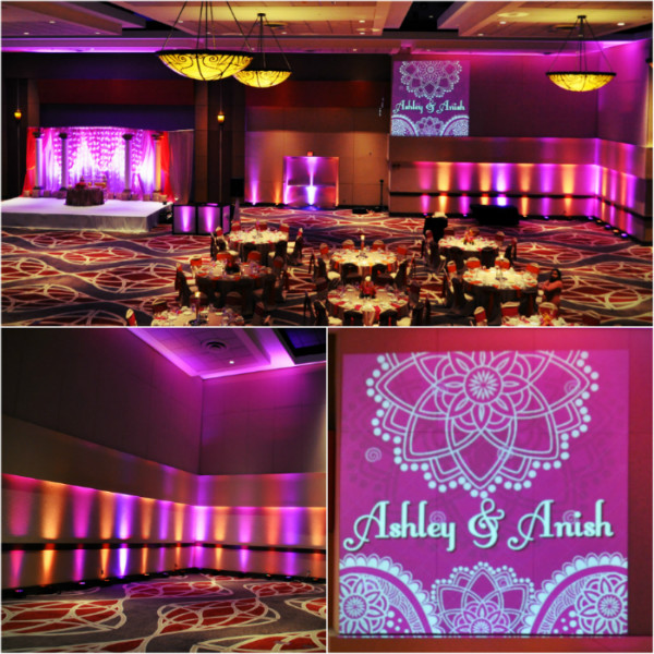 1 Dj Tiger - Indian Wedding DJ - Uplighting and Custom Gobo Graphics