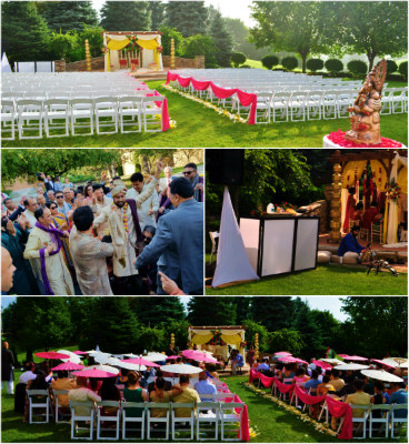 15 Dj Tiger - Outdoor Ceremony Setup with Tabla and Mobile Baraat