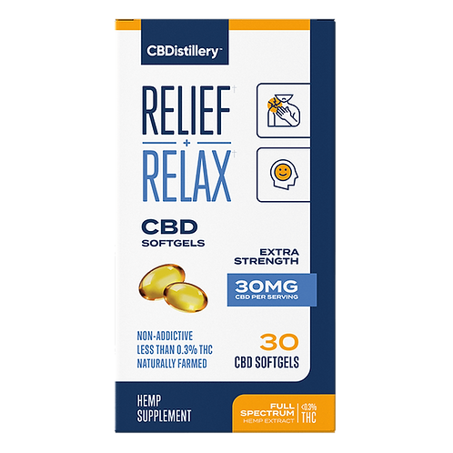 Relief and Relax Full Spectrum 30 count Soft Gels