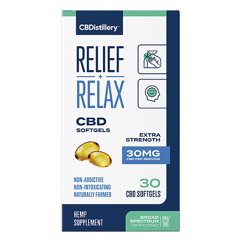 Relief and Relax Broad Spectrum 30 count Soft Gels