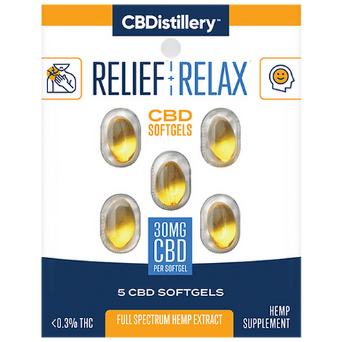 Relief and Relax Full Spectrum 5 count Soft Gels
