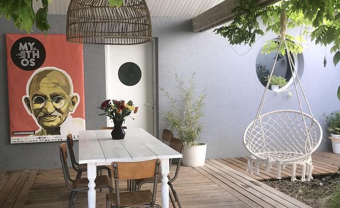 terrasse de la maison d'hotes de charme keramice