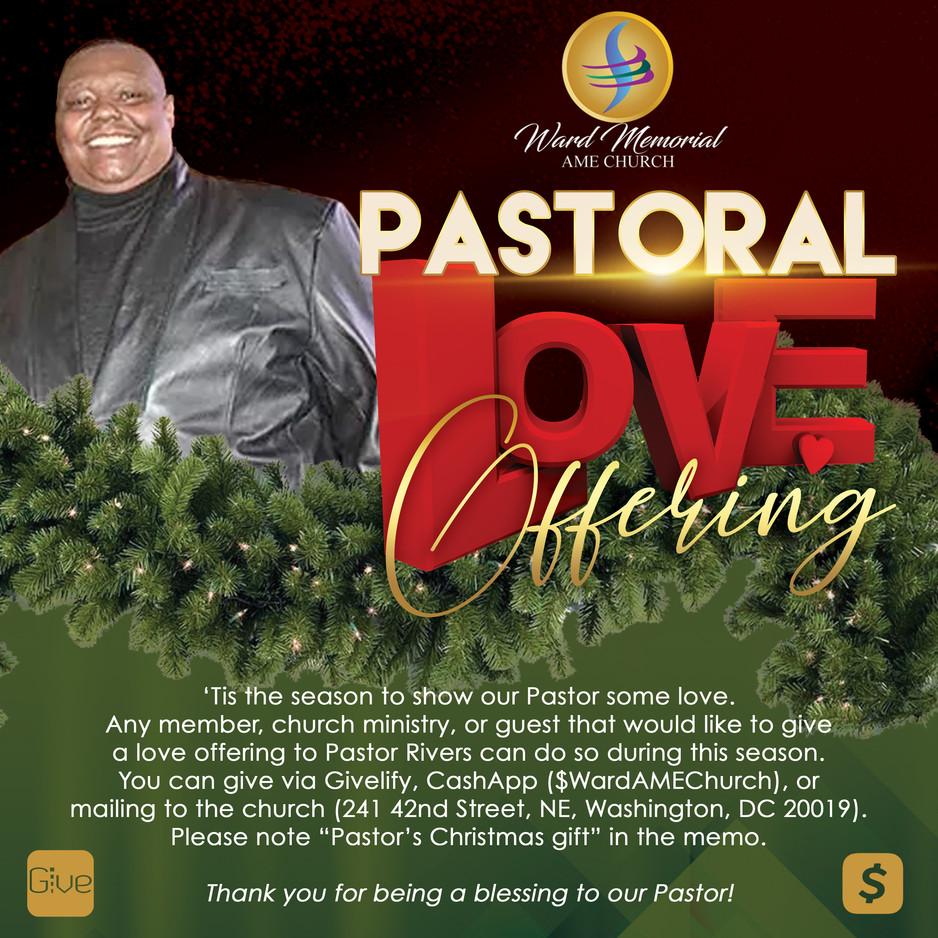 Pastoral Love Offering