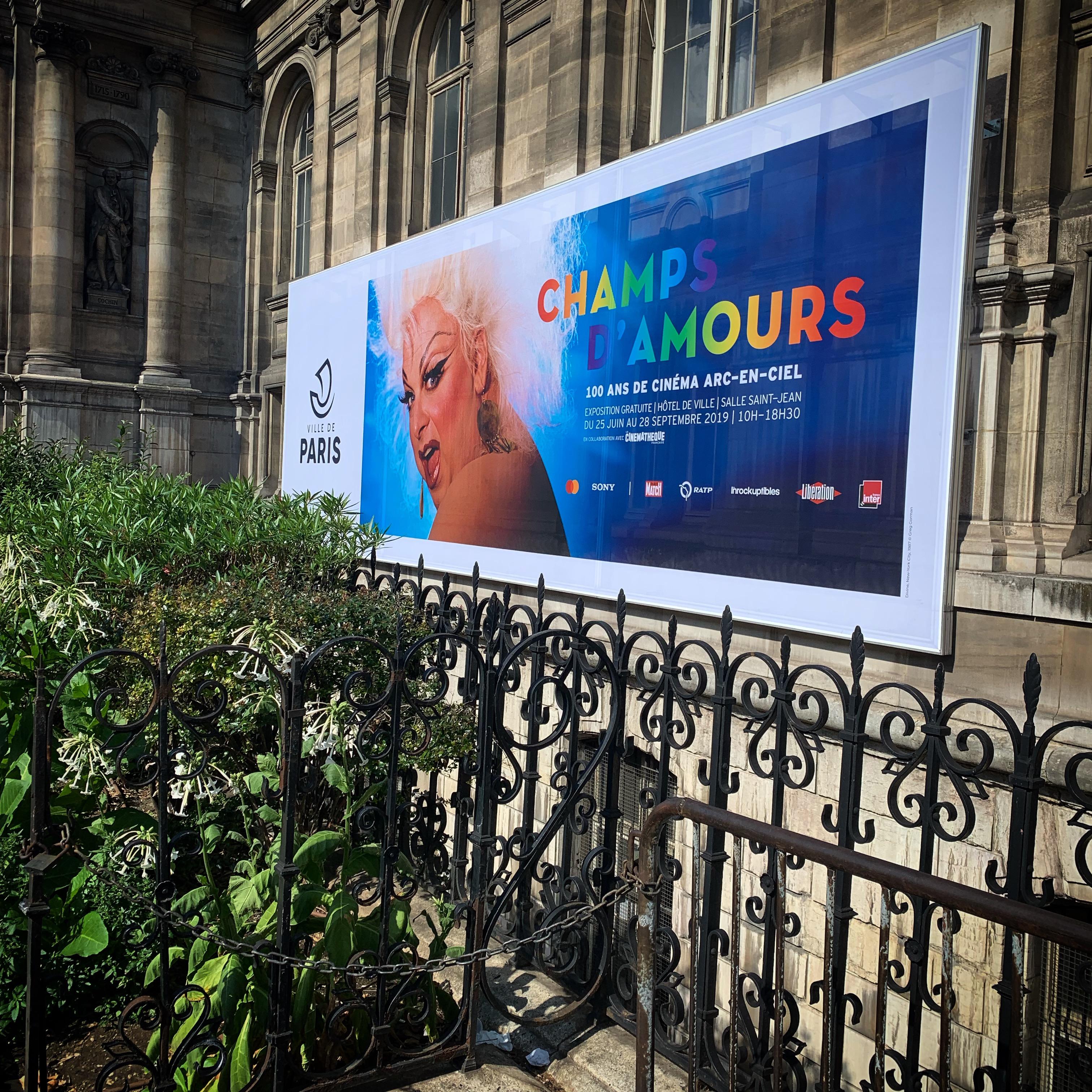 Exposition CHAMPS D 'AMOURS, 100 ans de cinéma arc-en-ciel, 2019