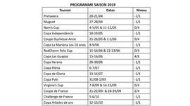 PROGRAMME DE LA SAISON 2019