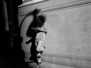 Man on Shadow Wall