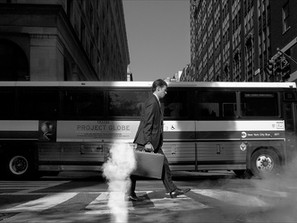 Man and Bus