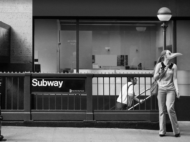 Woman at Subway