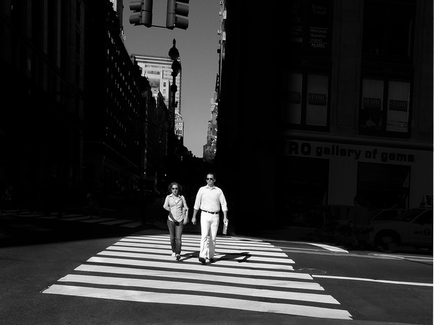 White Couple Walking