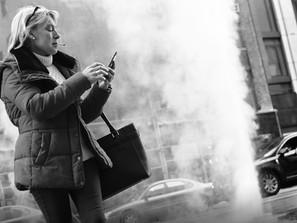 Woman and Steam Column
