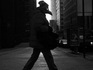 Man Walking in the Morning