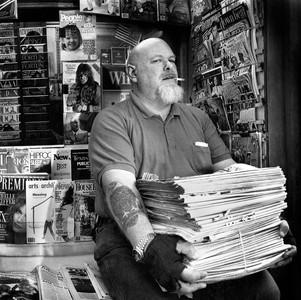 Newsstand Vendor, New York