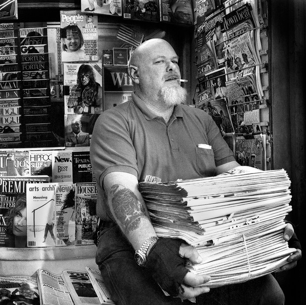 Newsstand Vendor, New York