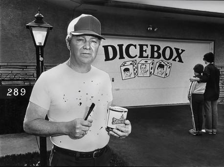 """""""The neighbors think my garage door is an eyesore."""" – Harry Dicebox"""