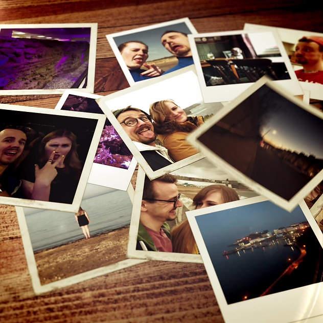 Falling Polaroids