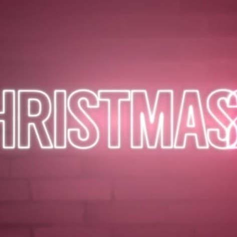 Christmas 24 Neon Logo Reveal