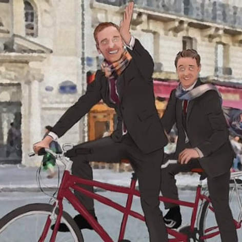 Michael Fassbender and James McAvoy create fan art - The Graham Norton Show