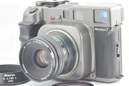 【 Exc +++ 】 Mamiya 7 Medium Format with N 80mm f/4 L Lens from JAPAN