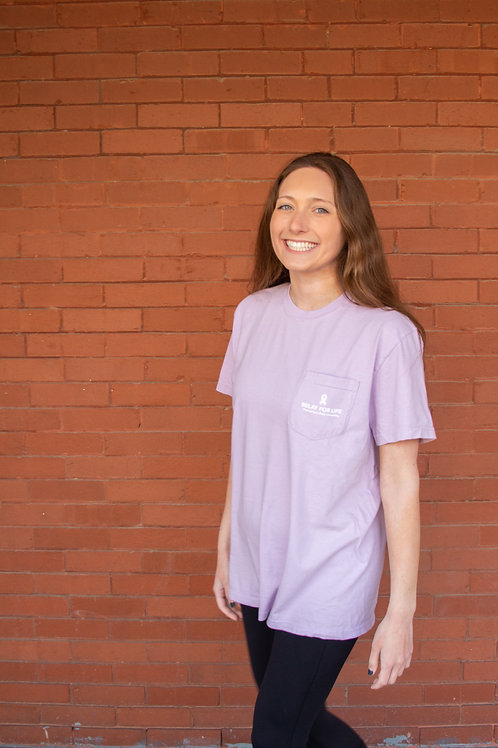 Orchid Comfort Colors Pocket Tee