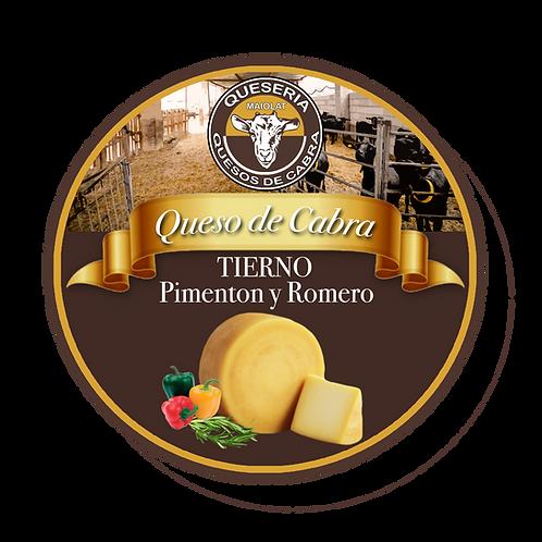 Queso de Cabra Tierno con Pimenton y Romero