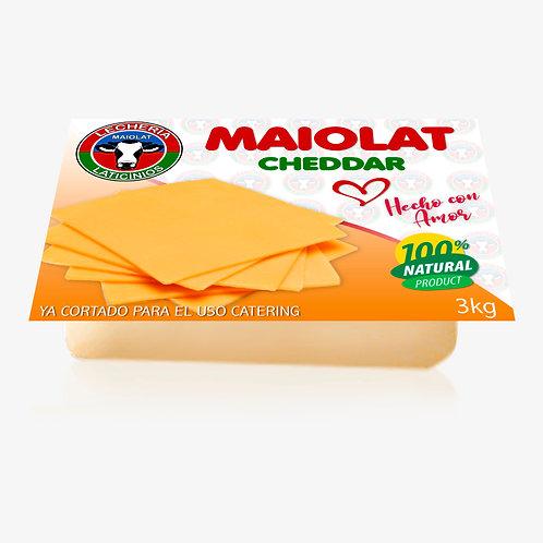 Queso Cheddar 3kg ya cortado para el uso catering