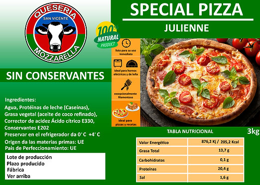 SPECIAL PIZZA JULIENNE