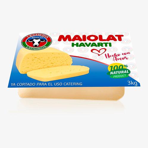 Queso Havarti 3kg cortado para el uso catering