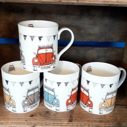 Beetle - Collection Tea Mugs, Set of Four