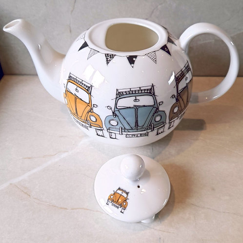 Large Round Tea Pot - Beetle