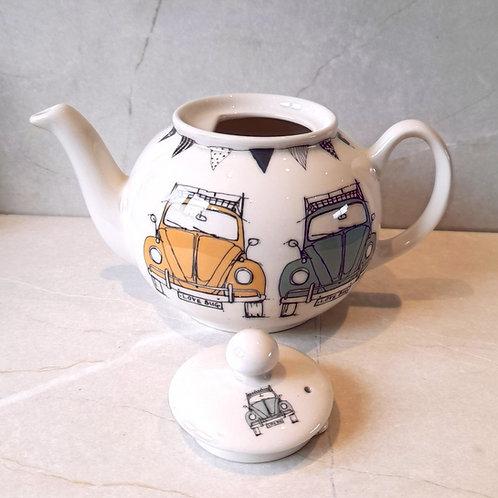 Small Tea Pot - Beetle - English Earthenware