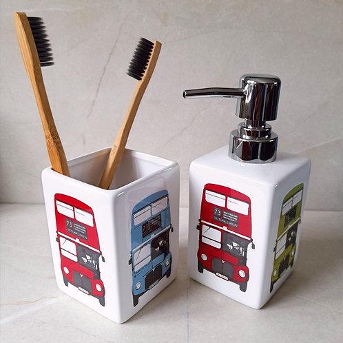 Toothbrush Holder- LondonBus - Multi Colour