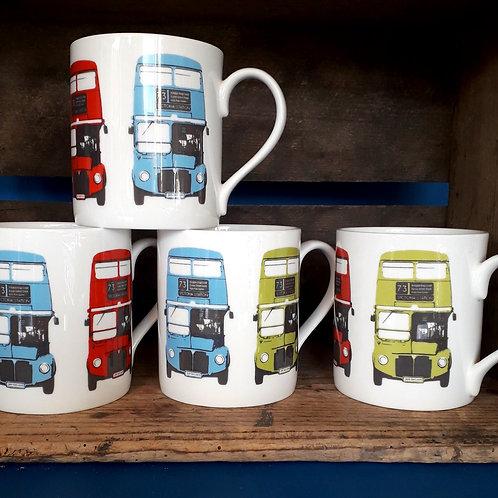 London Bus - Collection Tea Mugs, Set of Four