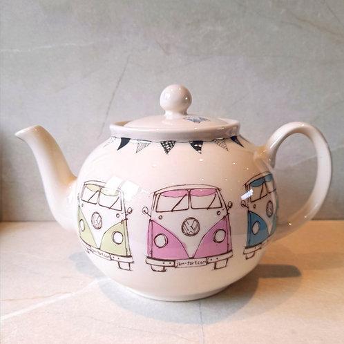 Large Tea Pot - Splitty - English Earthenware