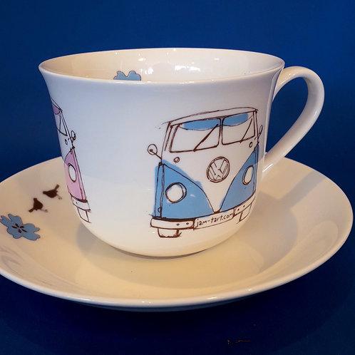 Tea Cup & Saucer - Splitty