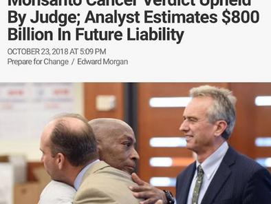 Bayer Stock Crashes after Monsanto Verdict Upheld By Judge; Analyst Estimates $800 Billion In Future