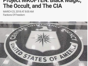 Project MKOFTEN: Black Magic, The Occult and the C.I.A