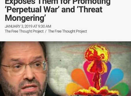 """Long-time reporter Quits NBC, Exposes Them for Promoting """"Perpetual War"""" and """"Threat"""