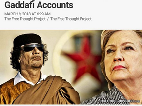 "Mysterious Entities Secretly Stealing Billions From ""Frozen: Gaddafi Accounts"