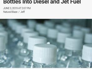 Researchers Turn Plastic Water Bottles Into Diesel & Jet Fuel