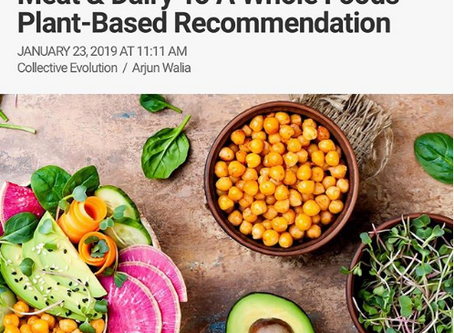 Canadian Food Guide Shifts From Meat & Dairy To A Whole Foods Plant-Based Recommendation