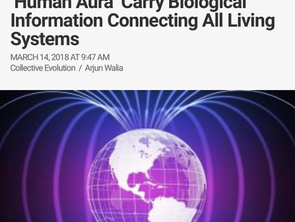 """How Earth's Magnetic Fields & """"Human Aura"""" Carry Biological Information Connecting"""