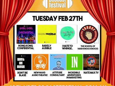 """Aus Cast"" Pod Cast Festival Adelaide 27th Feb Featuring Nate Max TV"