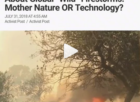 "Questions Need To Be Asked About Global ""Wild"" Firestorms: Mother Nature OR Technology"