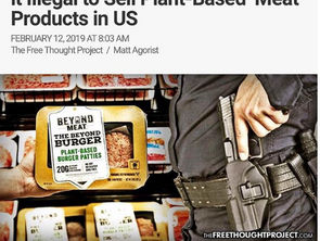 "Beef Industry-Backed Laws Make it illegal to Sell Plant-Based ""Meat"" Products in US"