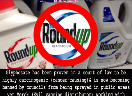 Glyphosate being banned from public areas but what about it being a major ingredient in childhood va