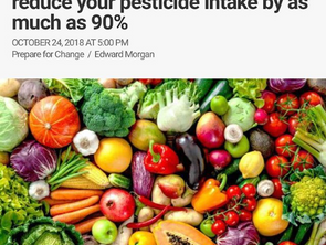 Switch to An Organic Diet & Reduce Your Pesticides Intake by as much as 90%