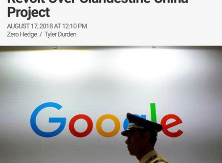 """Code Yellow"": Google employees Revolt Over Clandestine China Project"