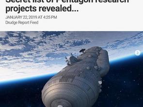 UFO's Warp drives, stargates: Secret List Of Pentagon research projects revealed..