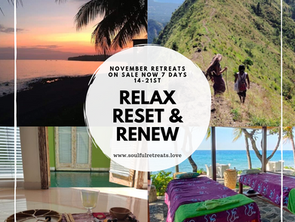 Sneak peak of our Relax Reset Renew wellness Retreat in november