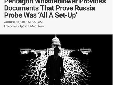 Operation Crossfire Hurricane: Pentagon Whistleblower Provides Documents That Prove Russia Probe Was